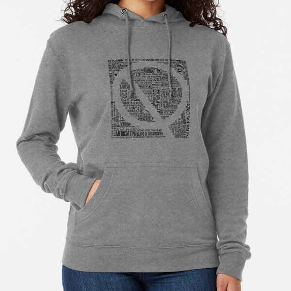 Queens of the Stone Age Song Titles In Q Lightweight Hoodie
