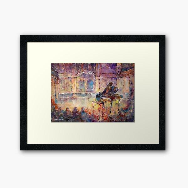 Piano Recital - Classical Pianist In Concert Framed Art Print