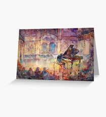 Piano Recital - Classical Pianist In Concert Greeting Card