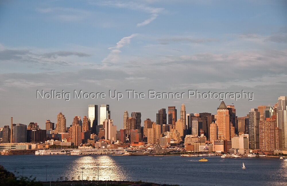nyc skyline afternoon cityscape over hudson by Noel Moore Up The Banner Photography