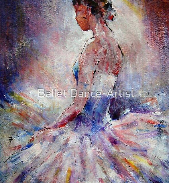 Ballet Dancer Contemplating by Ballet Dance-Artist