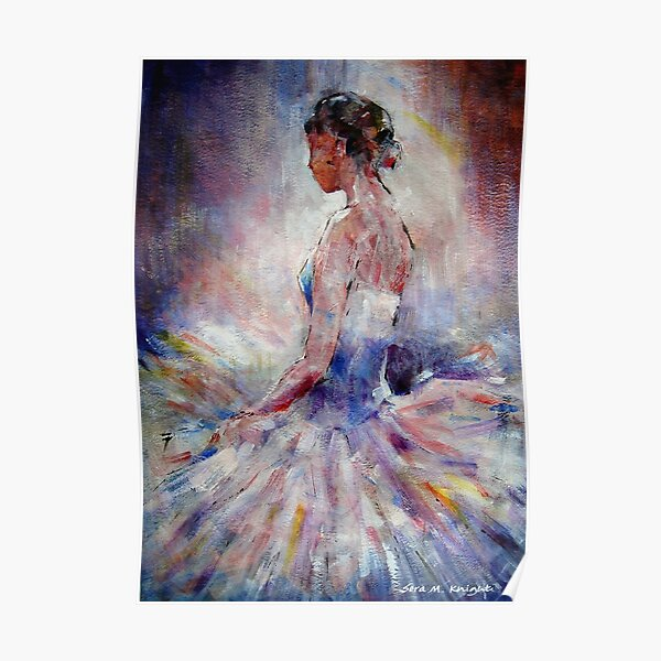 Ballet Dancer Contemplating Poster