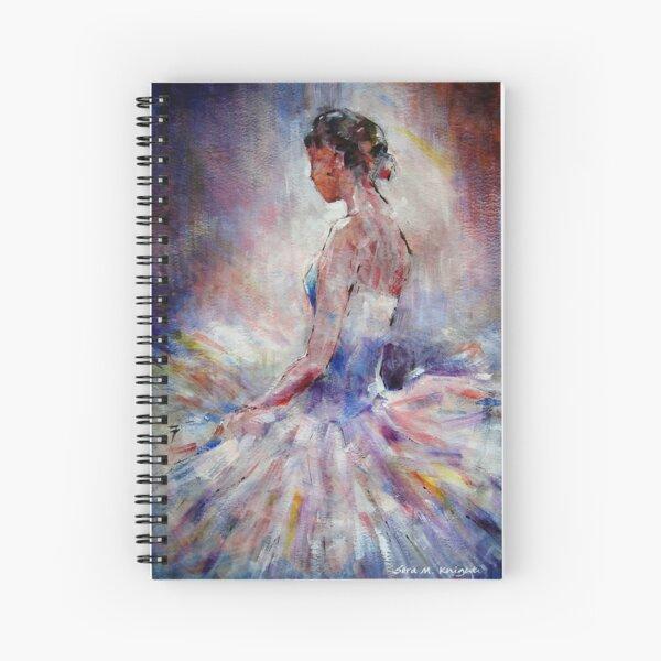 Ballet Dancer Contemplating Spiral Notebook