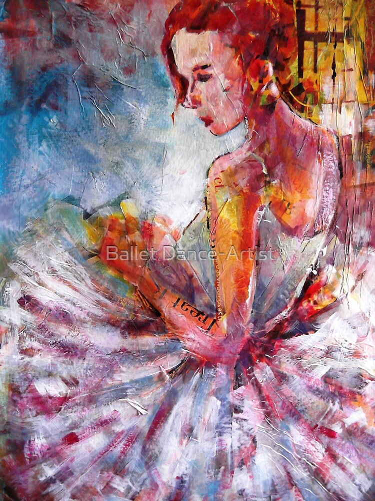 Ballet Dancer Art Prints & Gifts - Waiting by Ballet Dance-Artist