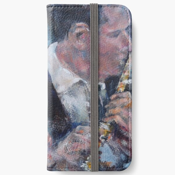 Playing The Flute - Music Art Gallery iPhone Wallet