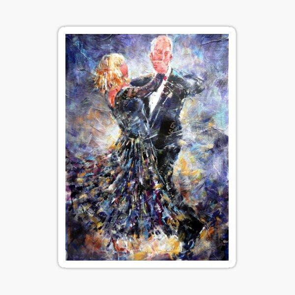 Ballroom Dancing Art Gallery - Elegant Couple Sticker
