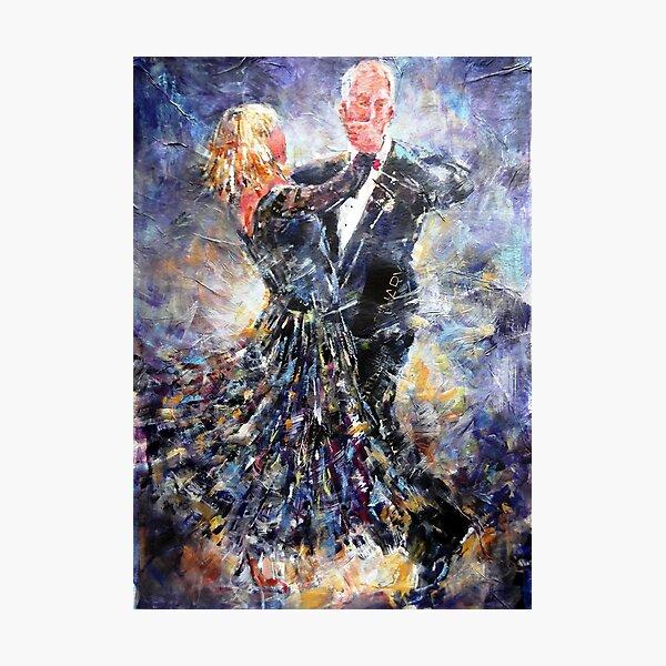 Ballroom Dancing Art Gallery - Elegant Couple Photographic Print