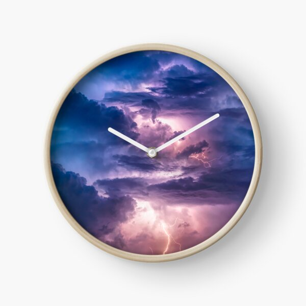 Thunderstorm Clock