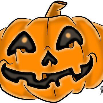 Jack-O-Lantern Halloween Pumpkin by GTARTLAND