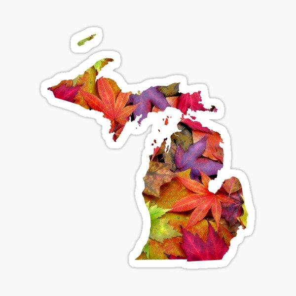 Michigan   Fall Leaves Sticker