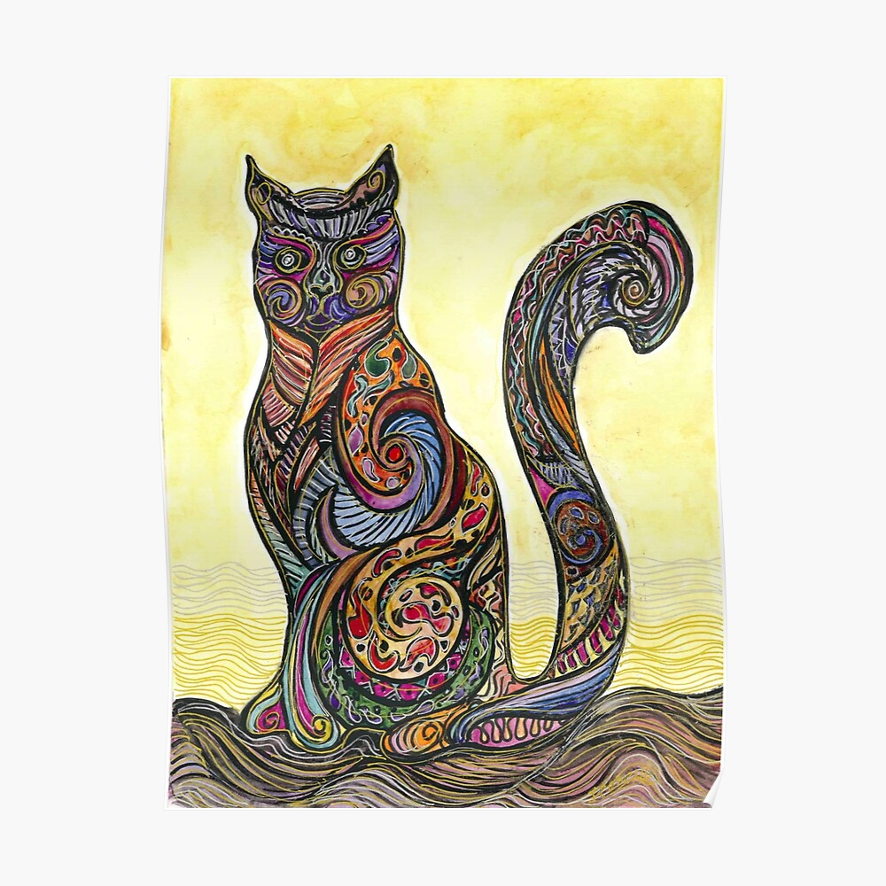 Cat of Many Colors Póster