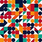 Abstract pattern circle, square, triangle by swisscreation