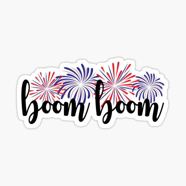 Boom Boom Fireworks Sticker