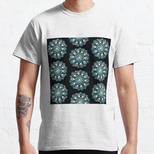 Blue Flower Mandala Classic T-Shirt