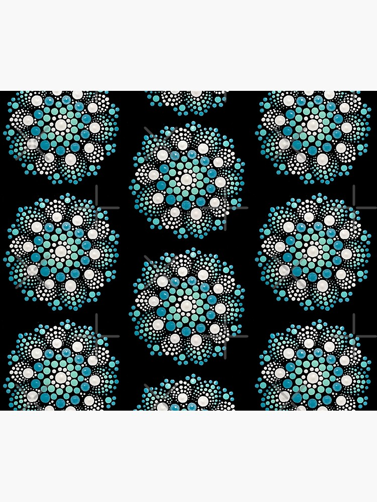 Blue Flower Mandala by rosemaryann