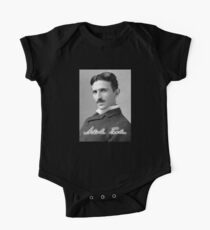 TESLA, Nikola Tesla, Genius, Electric, Electricity, AC, One Piece - Short Sleeve