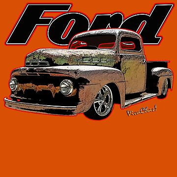 Ford Ratty Pickup Truck T-Shirt by ChasSinklier