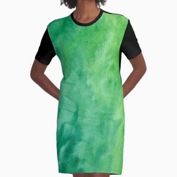Mean and Green Graphic T-Shirt Dress
