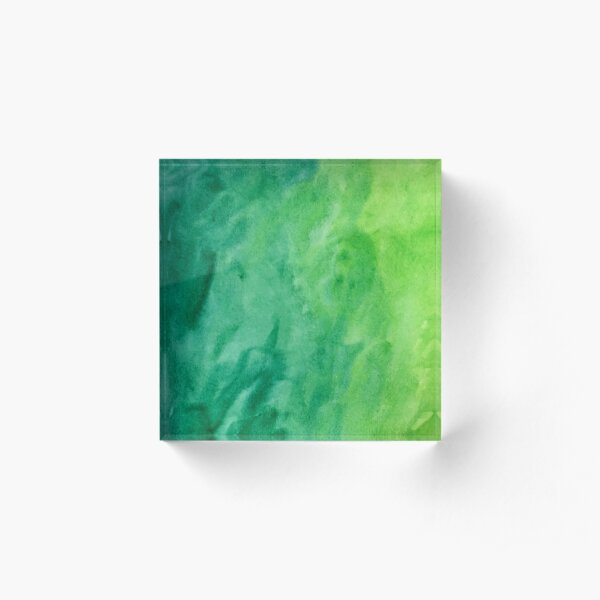 Mean and Green Acrylic Block