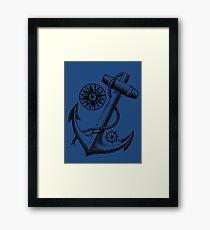 Vintage Nautical Anchor Design Framed Print