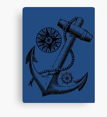 Vintage Nautical Anchor Design Canvas Print