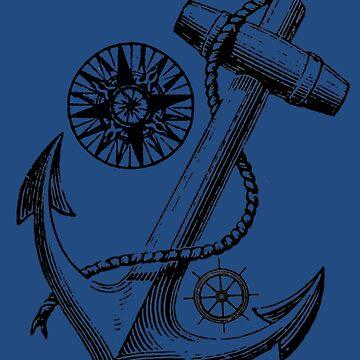 Vintage Nautical Anchor Design by laurasanders