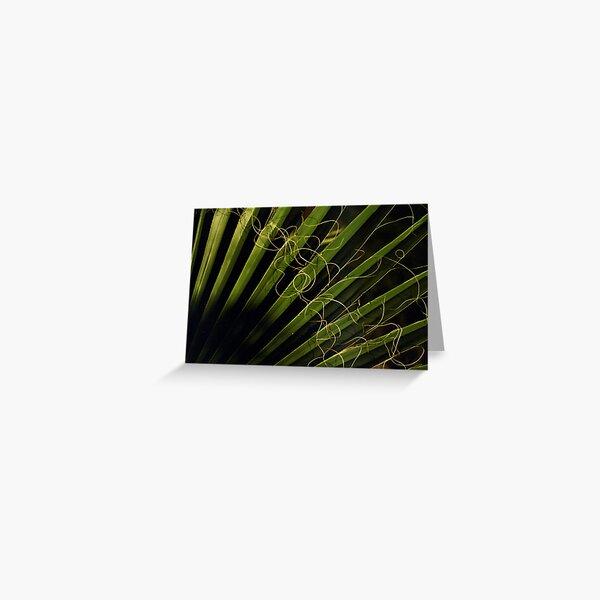Green hair Greeting Card