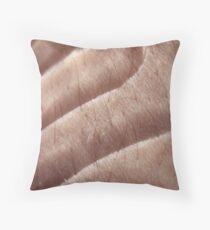 transparent silky skin Throw Pillow