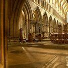 Inside Wells Cathedral by Alan Watt