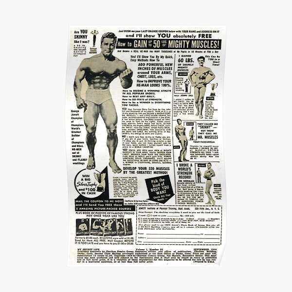 Vintage Muscle Advert Poster