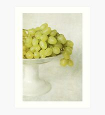 Grapes from my grandfather's garden Art Print