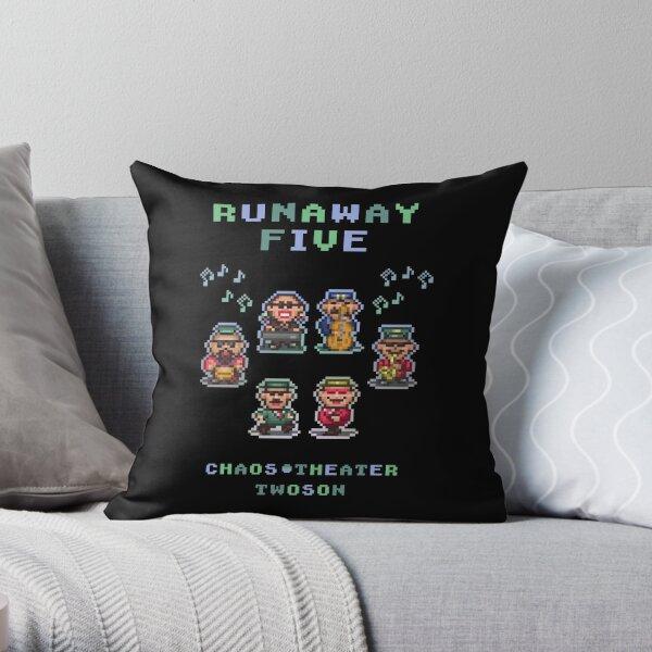 Runaway Five Throw Pillow