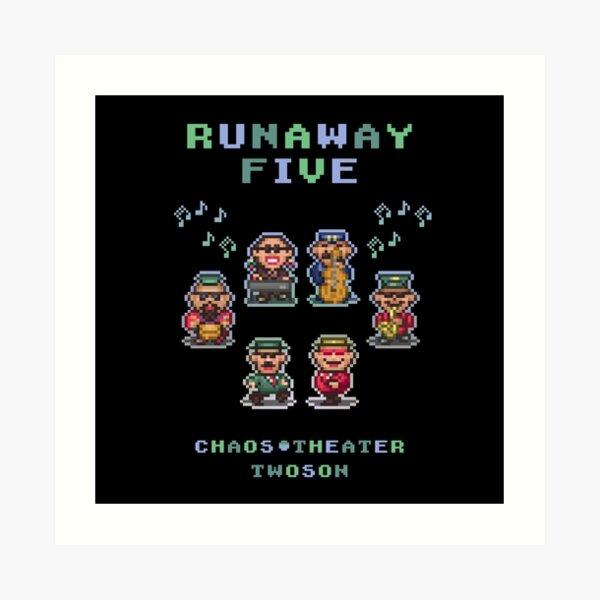 Runaway Five Art Print