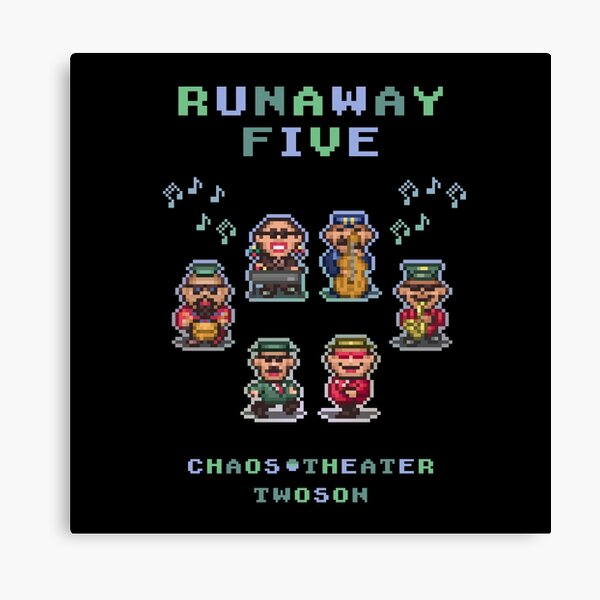 Runaway Five Canvas Print