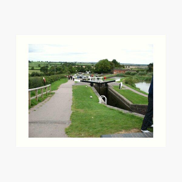 Foxton Locks, Leicestershire (5131) Art Print
