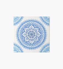 Yin Yang Mandala in Soft Blues Art Board