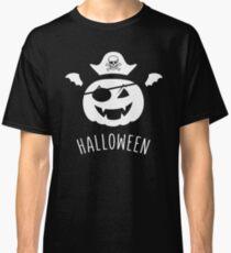 halloween pumkin pirate skelette head bat wings Classic T-Shirt