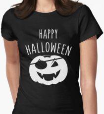 pumkin pirate happy halloween Tailliertes T-Shirt für Frauen