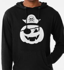 pumkin pirate with pirate skelette head  Leichter Hoodie