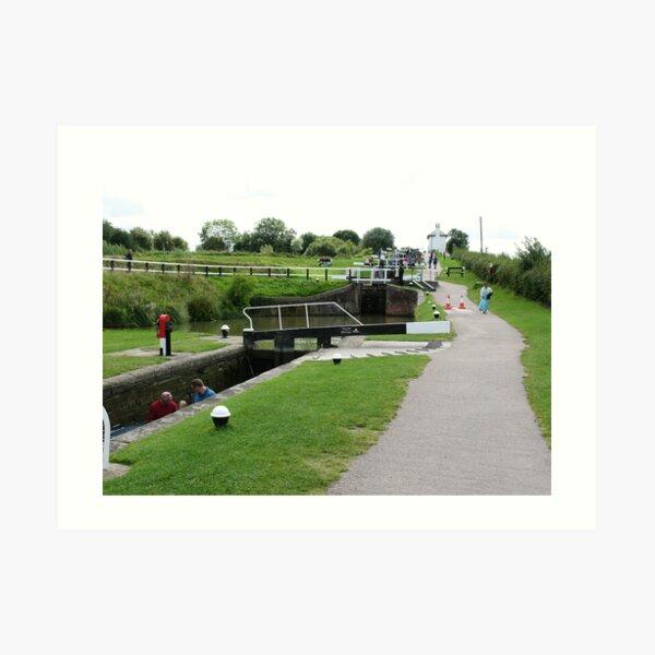 Foxton Locks, Leicestershire (5140) Art Print