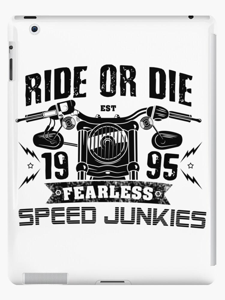 \'Biker Rider - Ride OR Die - Biker saying quote\' iPad Case/Skin by Makx  Media