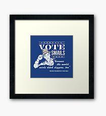 Vote Smails Framed Print