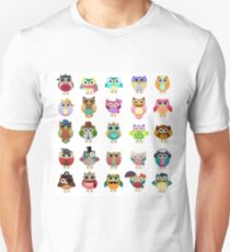 Cute Owls Set Unisex T-Shirt