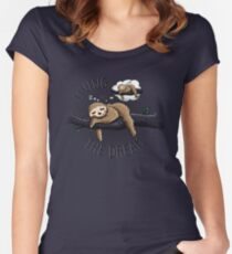 Living the Dream Women's Fitted Scoop T-Shirt