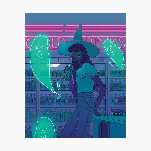 ghost witch Photographic Print