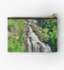 Upper Whitewater Falls NC Summertime Vertical Studio Pouch