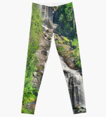 Upper Whitewater Falls NC Summertime Vertical Leggings