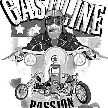 Gasoline Passion, old school, biker, motorcycle by matches1