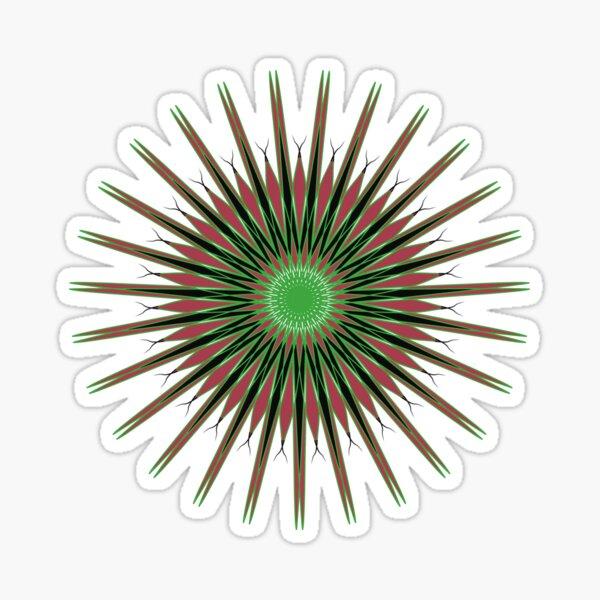 Sunshine Blaze Spiral Pattern Design Sticker
