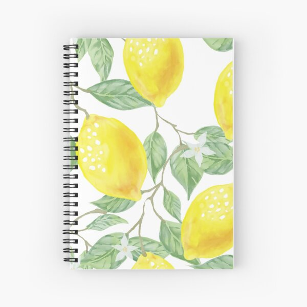 Lemon Print Spiral Notebook